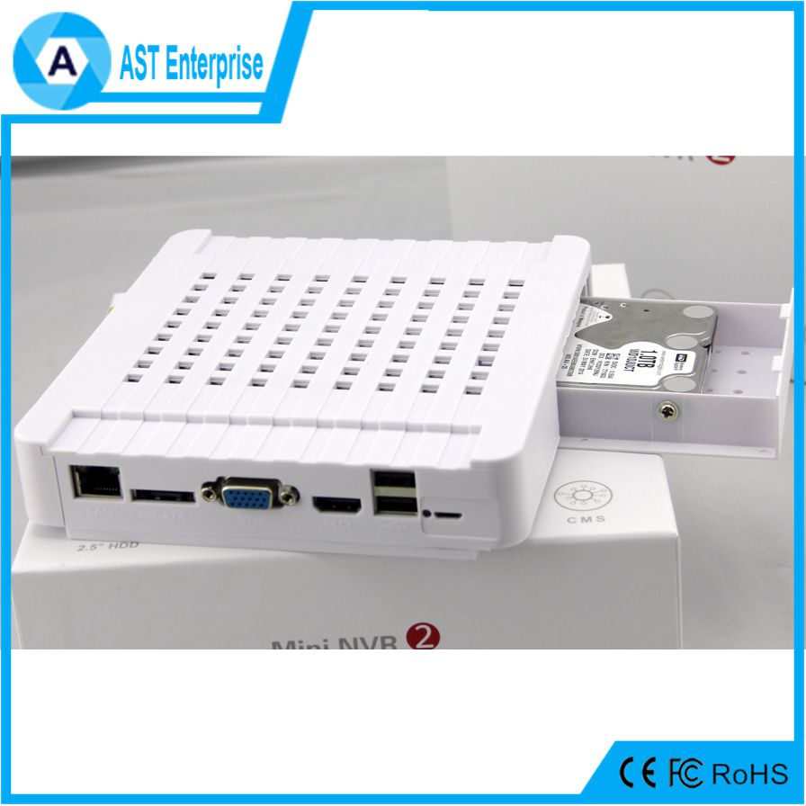 p2p cloud 16 MINI NVR 16CH 1080P/9CH 3MP/4CH 5MP Portable NVR Destop installation