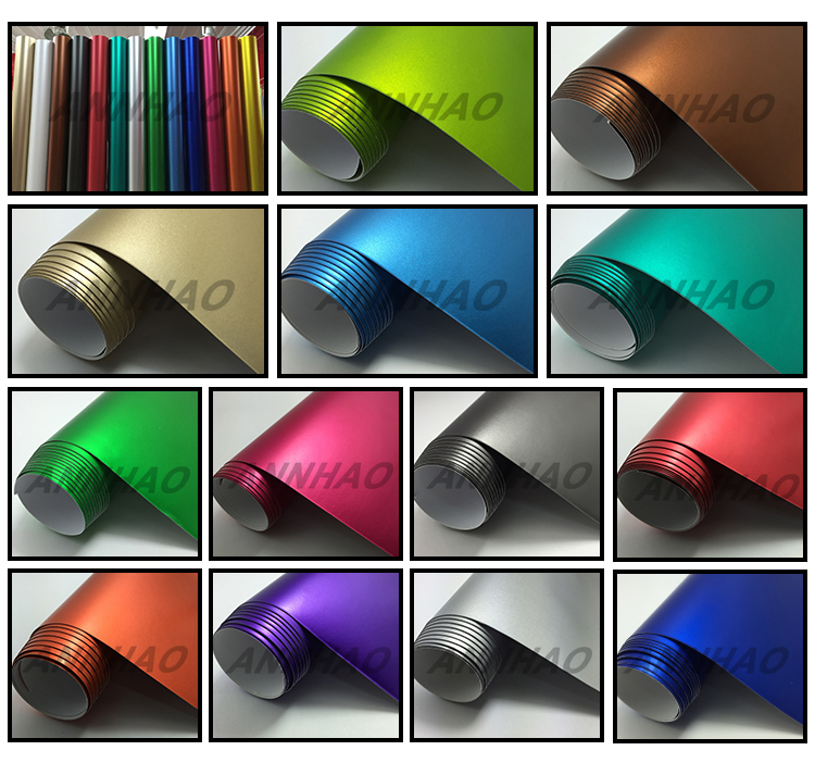 Annhao Air Free Matte Chrome Ice Film Matte Red Color Car Wrapping Vinyl Sticker