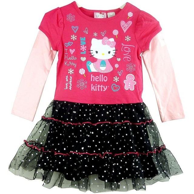 2456154bffa7 Buy Retail new kids dress cartoon hello kitty long sleeve girl ...