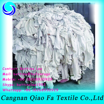 China Good Quality White Used Rags For Industrial Banian Cloth For ...