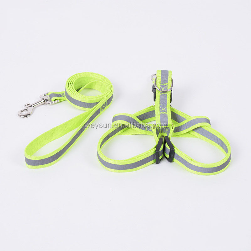 Geen Pull Reflecterende Nylon Dog Harness En Leash Set Stap In Puppy Harnassen Vest En Lopen Dleads Voor Kleine Medium honden