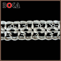 BOKA soft quality cotton crochet lace trim, can be dtm wearable trimming for making clothes or dress