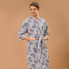 cotton printed men's kimono pajamas contain 100% cotton sex products for home and hotels