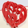 3d Pop up heart shape valentine's day card for valentine gift wholesale