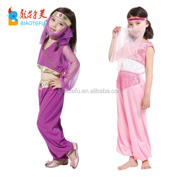 Aladdin lamp arabic princess fancy dress costume for kids
