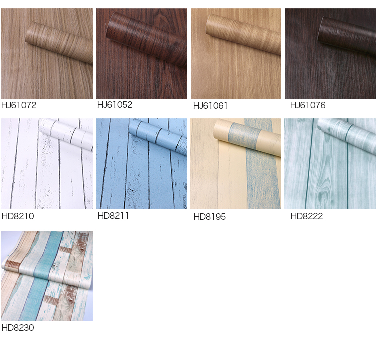 Factory supply pvc contact paper for decoration wood sticker