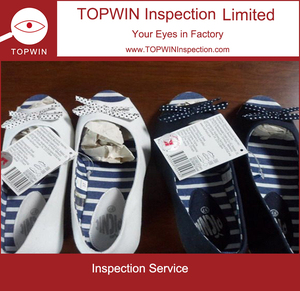 lady's espadrilles Inspection company shoe inspection services
