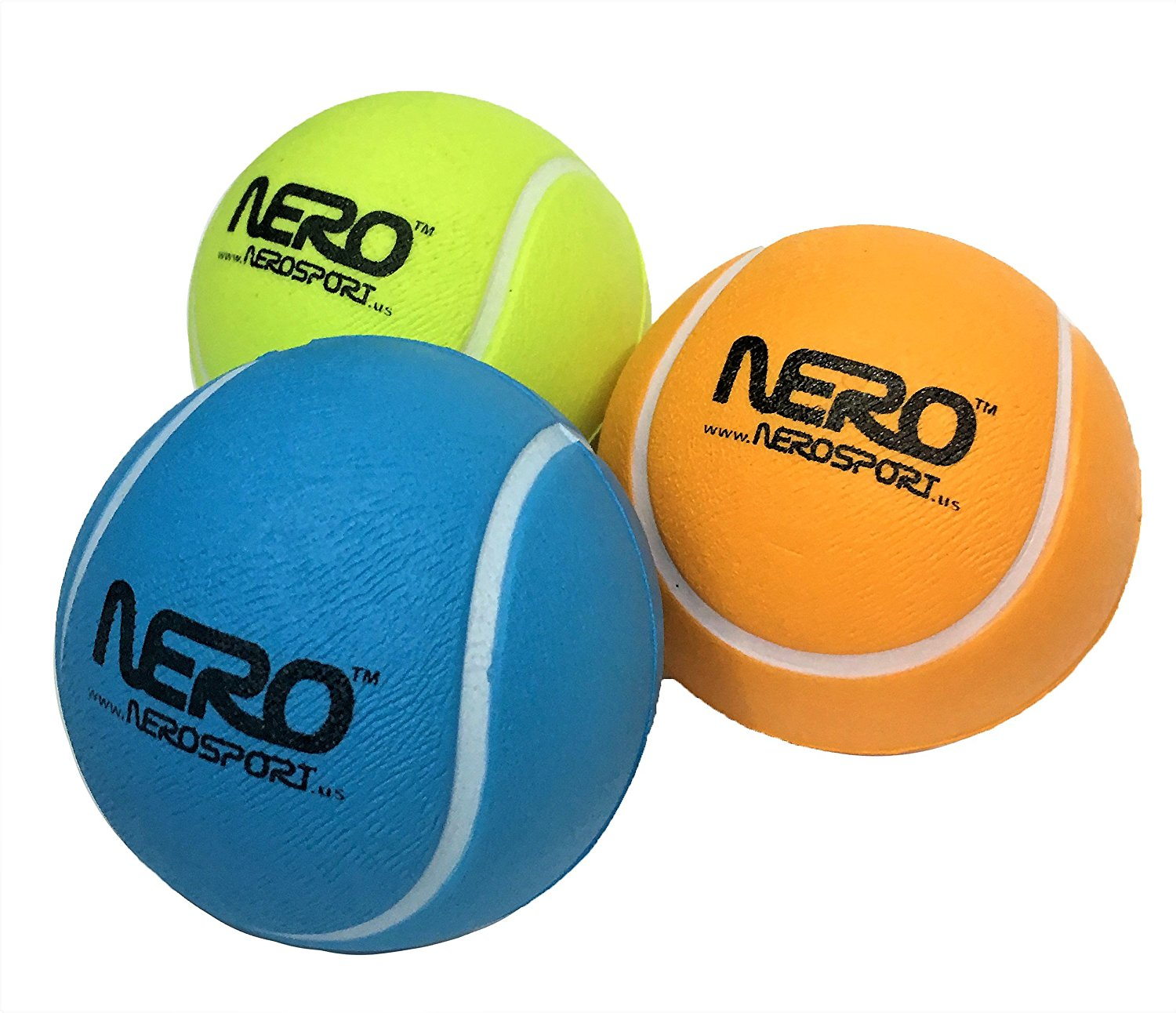 Nero NS-RS High Bounce Rubber Toy Tennis Ball 2.5 inch Great For the Streets Park Playground Back Yard Boys & Girls Love it Agility Ball Bulk Price Birthdays