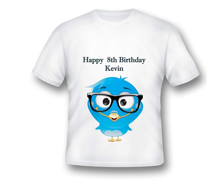 Custom Anime Birds Birthday Tee shirt, Cute Bird Shirt, Birthday Custom TShirt, Birthday Cute Shirt, Birthday Shirt Ideas
