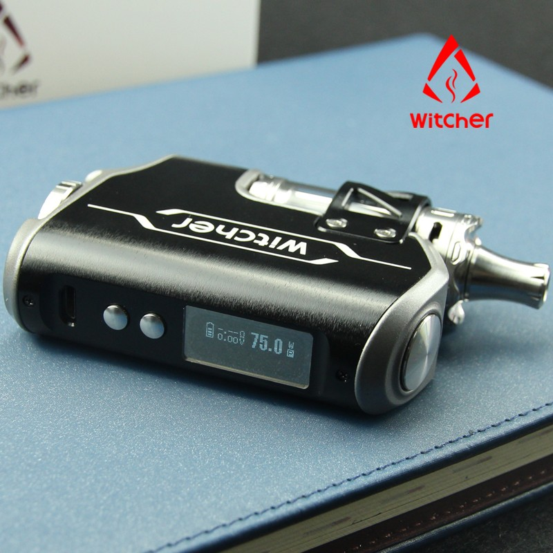 Best Selling Hot Rofvape Witcher Box Mod E Cig TC 75w Vape Mods 2017 Starter Kit