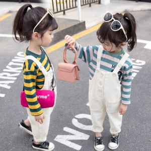 Children wear girls clothing set custom hoodies one piece boutique girls outfits fashion style child clothes baby bib