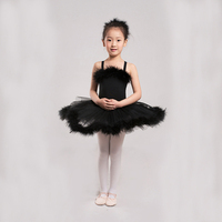 Fashion Kids Girls Dresses black jazz costume swan tutu ballerina costume