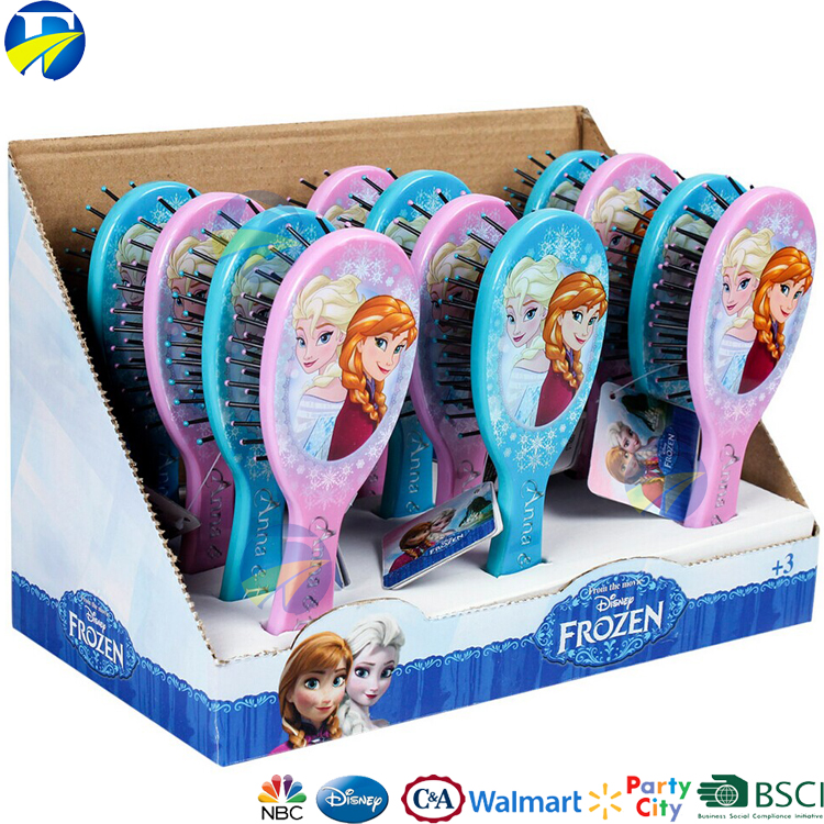 FJ brand wholesale kids cartoon massage comb mini hair comb