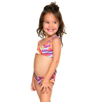 1ab118a5a0bb 2018 New Style Printed Summer Beach Bikini Little Girl European Kids  Swimwear
