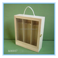 Unfinished cheap wooden wine boxes wholesale