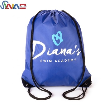 2019 Custom Printed Cheap Eco- Friendly 210D Polyester Drawstring Bag For Promotional