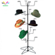 Powder coating black grocery store metal spinner hat display rack