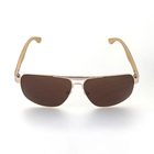 custom 100% UV protection classic brown sunglasses unisex logo bamboo sunglasses