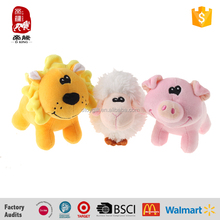 China wholesale making stuffed animals lovely pig with glasses