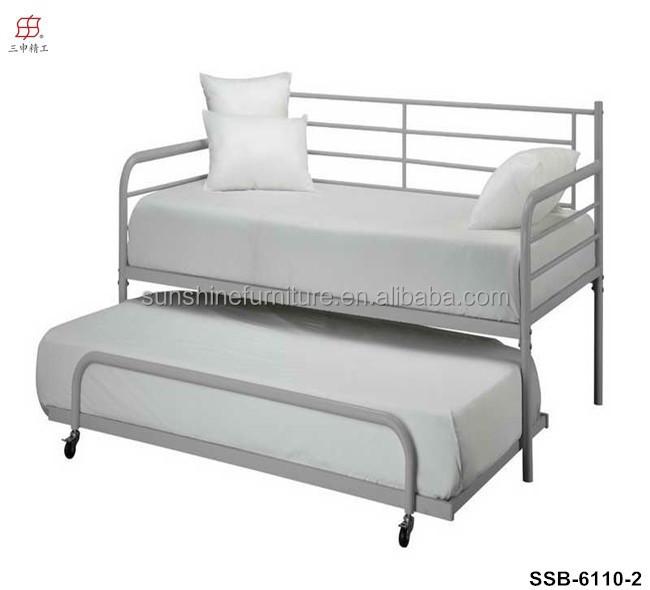 pas cher simple et moderne blanc m tal m ridienne avec lit gigogne lit en m tal id de produit. Black Bedroom Furniture Sets. Home Design Ideas