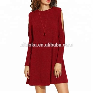 high quality Basic Loose four color optional comfortable dress