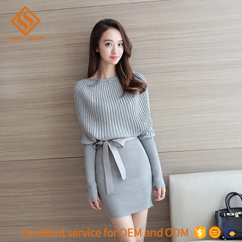79071d2db3e2d 2017 Spring women boat neck sweater , girls fancy long sleeve knit sweater  dress