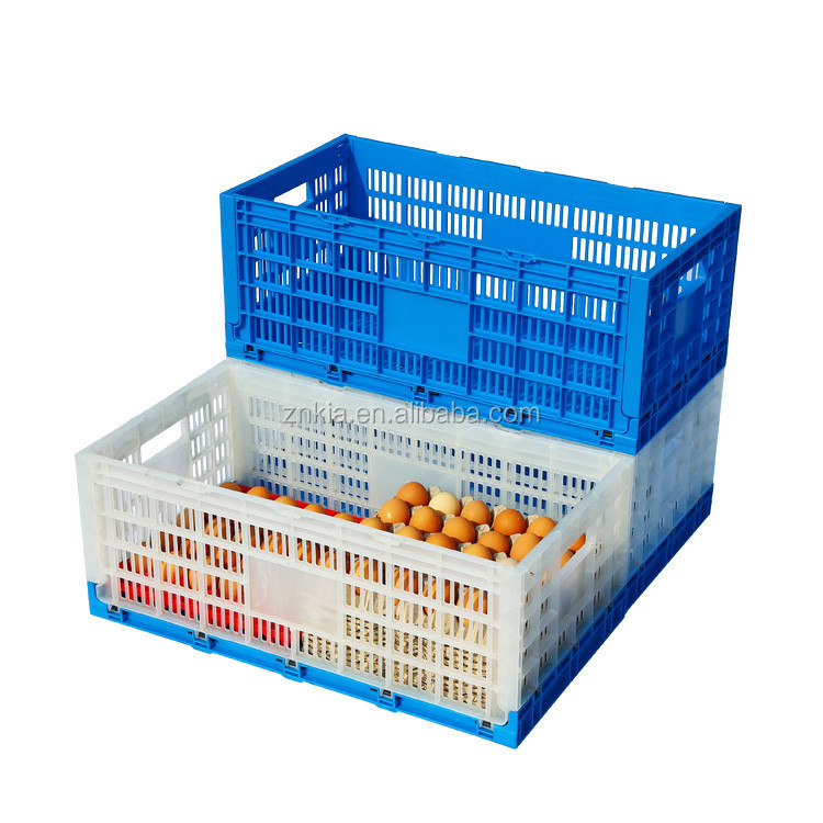 Daily turnover box/Excellent quality Folding plastic egg crate
