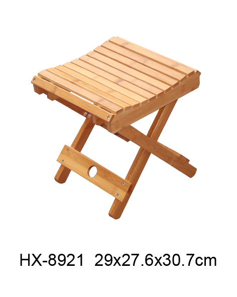 Small foldable bamboo stool buy bar