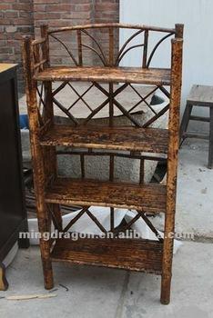 Chinese Antique Furniture Sichuan Bamboo Book Shelf