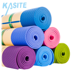 Promotional silicone exercise light weight natural yoga mat with carrying strap