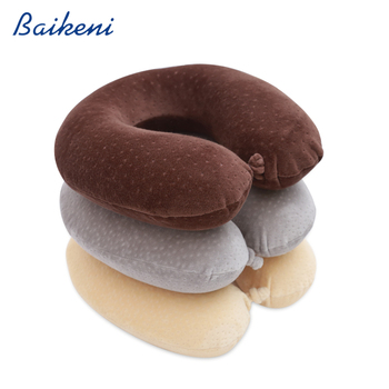 New design latest style neck support travel pillow u shape memory foam pillow