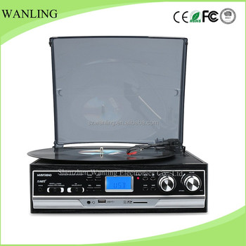 Wanling Retro Record Player PLL Radio Phonograph With Transparent Dust  Cover Lp Turntables