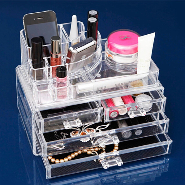 Transparent Plastics Makeup Nail Art Storage Box