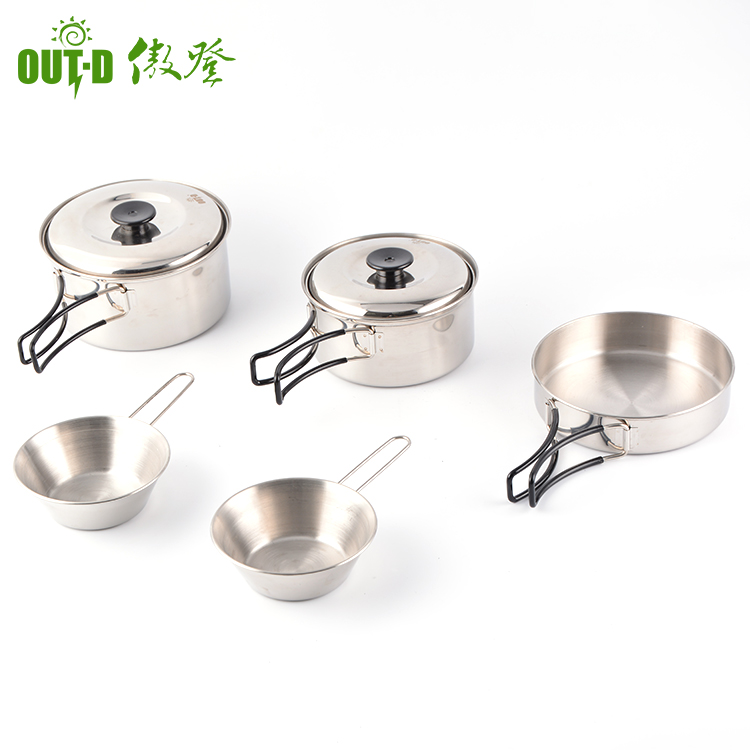 Professional design simple kitchen cooking stainless steel cookware set