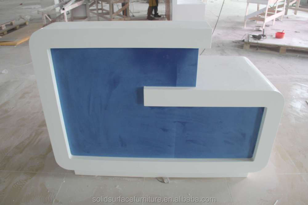 Modern Simple Commercial Round Checkout Counter For Sale