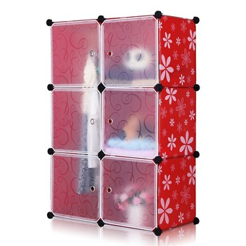 DIY Plastic Simple Style 6 Cube Organizer, Baby Wardrobe Closets