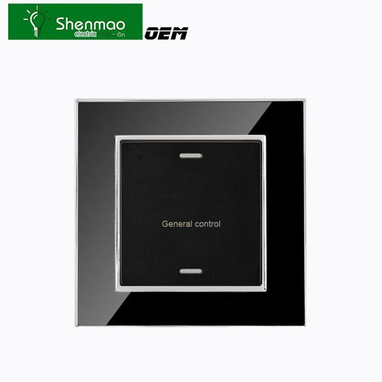 EU standard/US Standard / Germany Standard touch wall switch , 1 Gang/2 gang/3 gang 5mm Crystal Glass Panel Sensor light Switch
