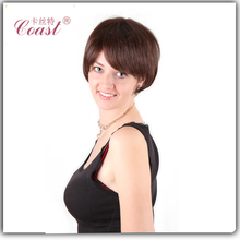 fashion lady short lace front human hair wigs