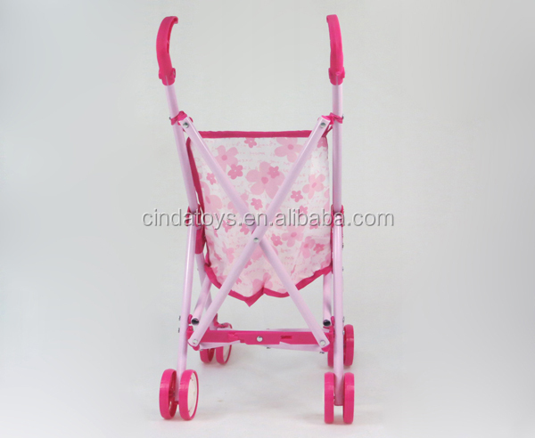 cheap pushchair pink doll stroller with handlebar girl pink baby chair toys baby stroller 3 in 1