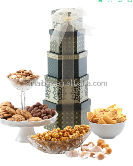 OEM carton chocolate box manufacturer tower hard paper boxes round gift <strong>packing</strong>