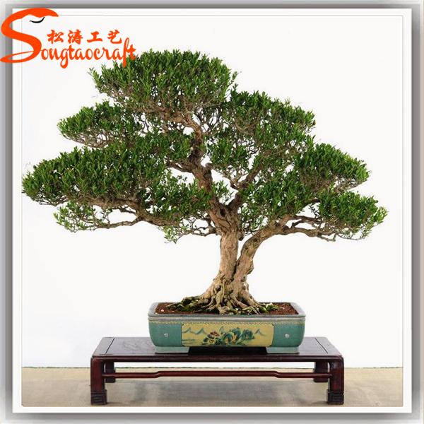 natural fake plastic artificial banyan tree bonsai plants with mini bonsai tree sale