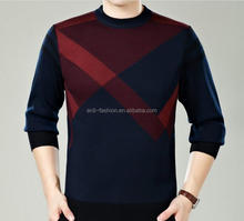 2016 latest man 100 cotton winter pattern pullover sweater