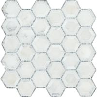 Decorstone24 Good Price White Marble Hexagon Mosaic Tile Sheets For Bathroom