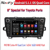 1024x600 Quad Core Android 5.1.1 Car DVD Player for Toyota Prius 2009-2013 with GPS Built-in wifi, Support OBD SWC