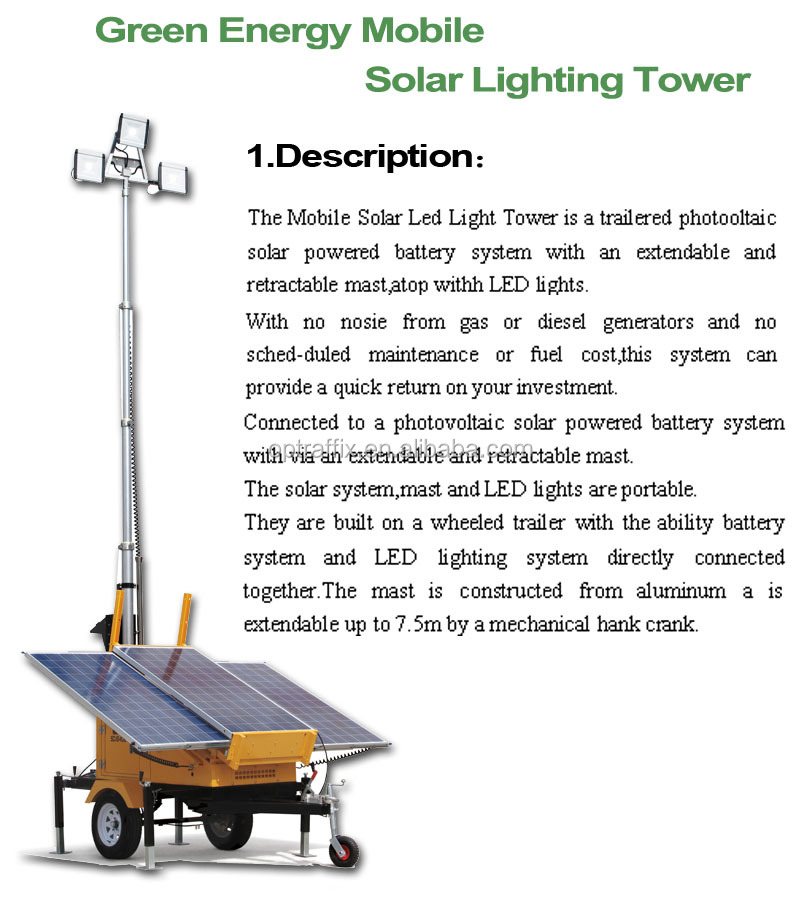 Portable Light Tower Price: 2016 Oem Trailer Mounted Construction Portable Lighting