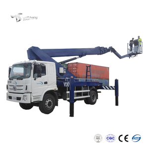 straight boom high altitude operation aerial lift platform fire truck