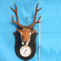 Creative deer head wall hanging flat waterproof digital clock themes