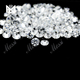 2mm star cut round shape cz cubic zirconia gemstone beads