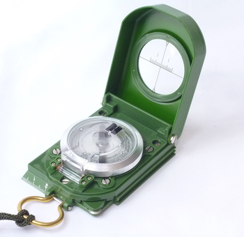 Prismatic Sighting Compass,Aluminum Sports Army Compass #80