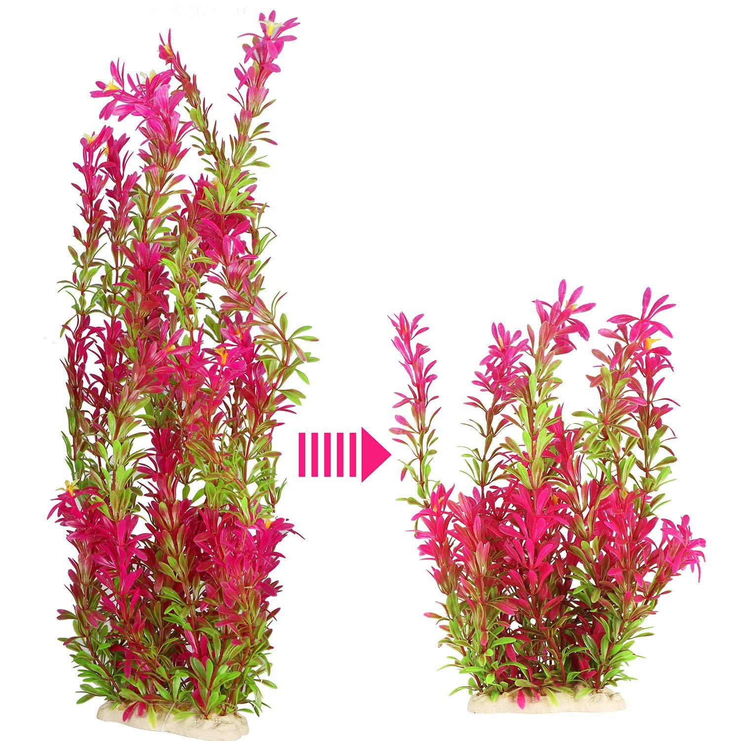 JoyJon Artificial Aquarium Plants Plastic Fish Tank Aquascaping Decorations Water Aquatic Plants